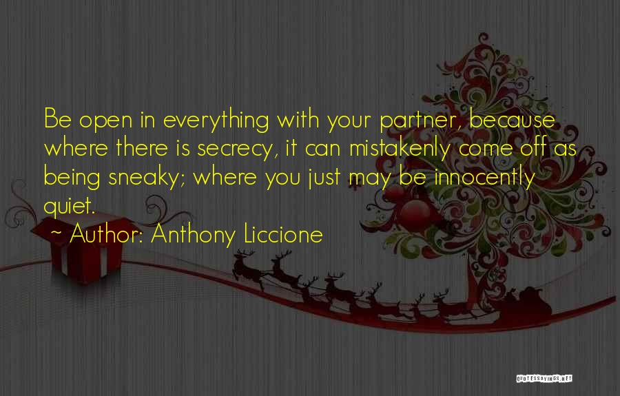 Sneaky Quotes By Anthony Liccione