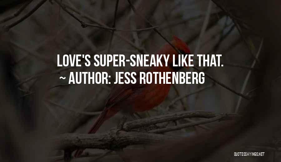 Sneaky Quotes By Jess Rothenberg