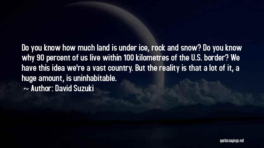 Snow Land Quotes By David Suzuki