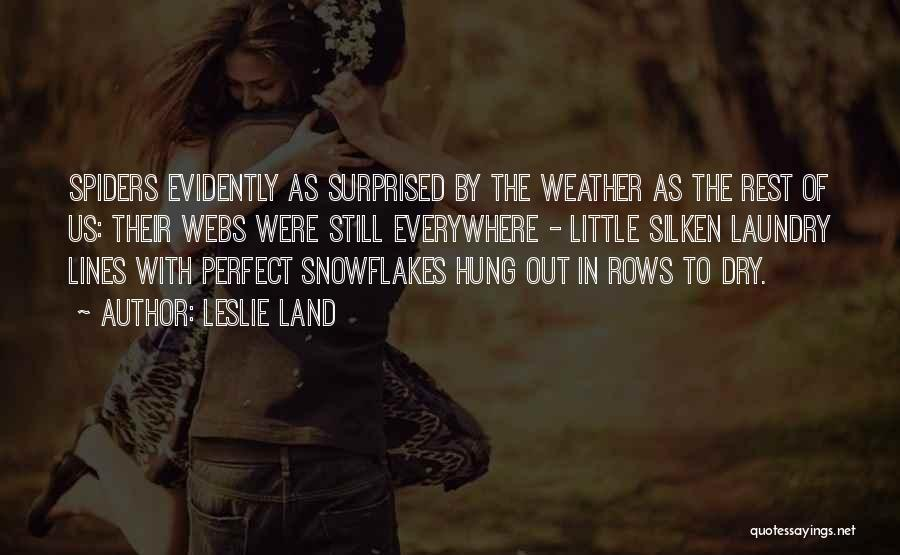 Snow Land Quotes By Leslie Land