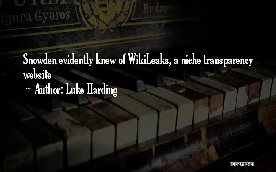 Snowden Quotes By Luke Harding