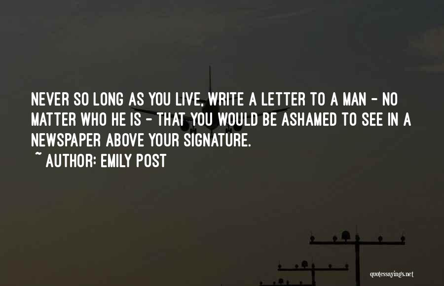So Long A Letter Quotes By Emily Post