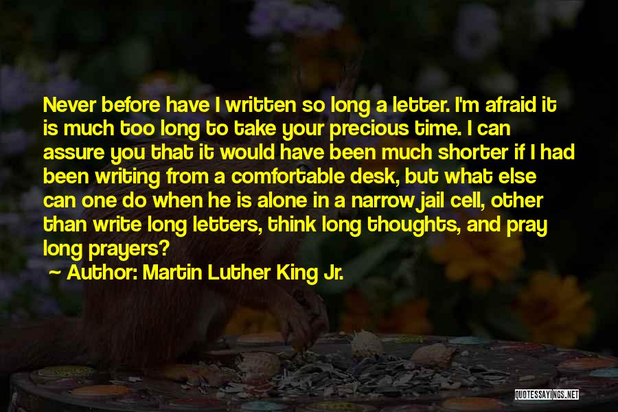 So Long A Letter Quotes By Martin Luther King Jr.