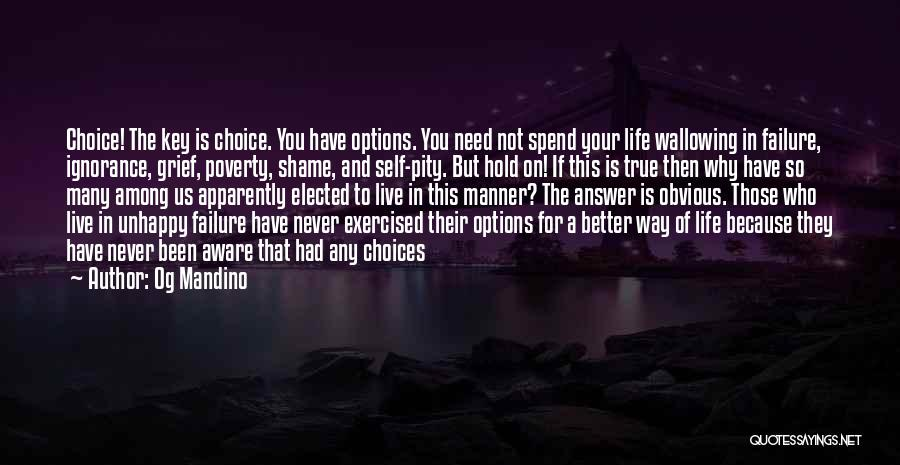 So Many Options Quotes By Og Mandino