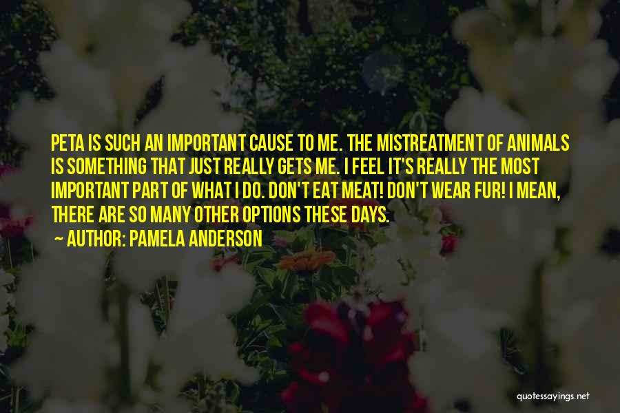 So Many Options Quotes By Pamela Anderson