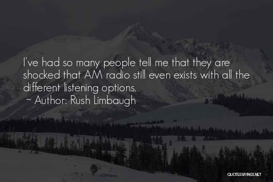So Many Options Quotes By Rush Limbaugh