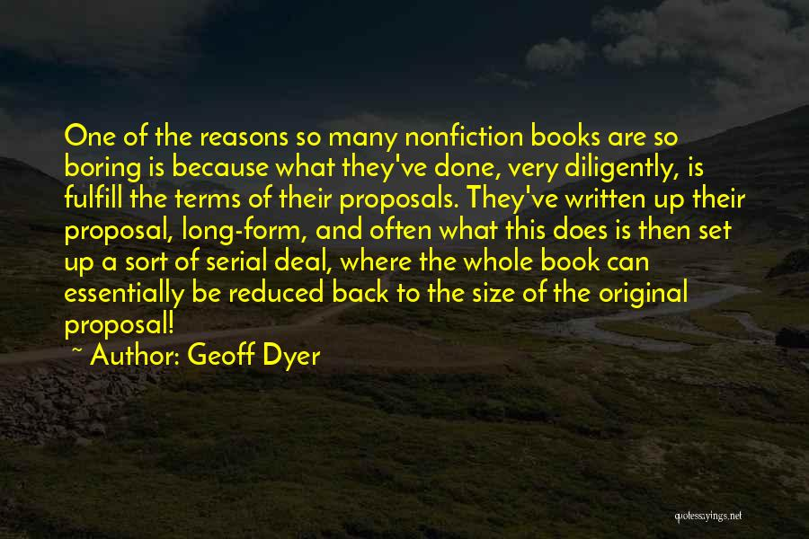 So Many Reasons Quotes By Geoff Dyer