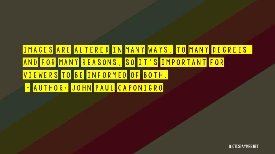 So Many Reasons Quotes By John Paul Caponigro