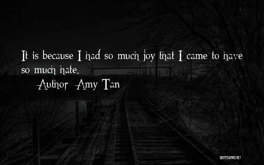 So Much Hate Quotes By Amy Tan