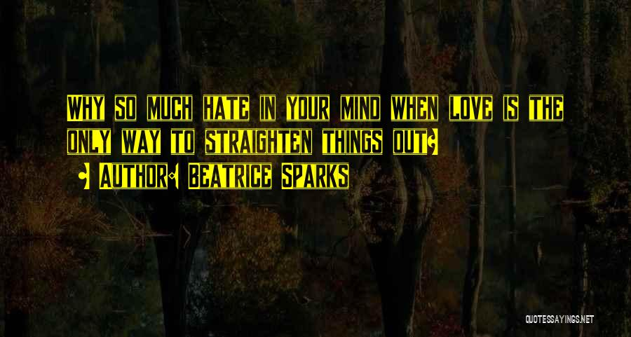 So Much Hate Quotes By Beatrice Sparks