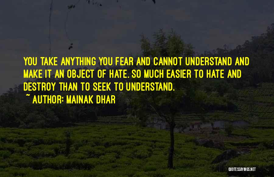 So Much Hate Quotes By Mainak Dhar