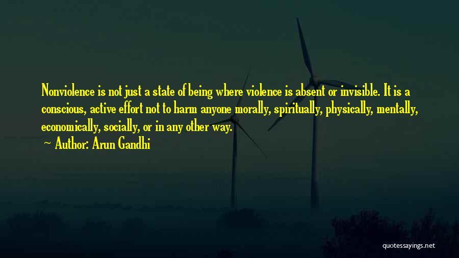 Socially Active Quotes By Arun Gandhi