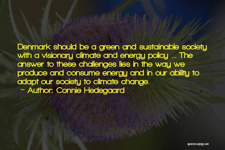Society And Change Quotes By Connie Hedegaard