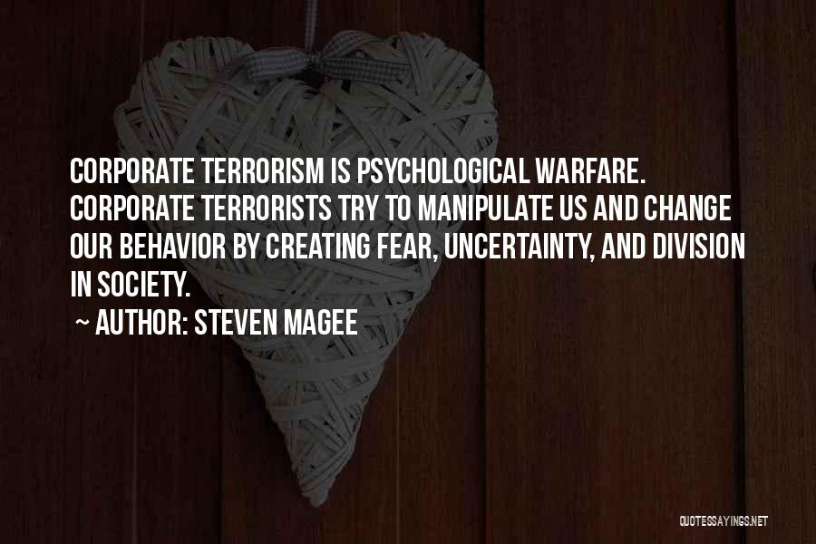 Society And Change Quotes By Steven Magee