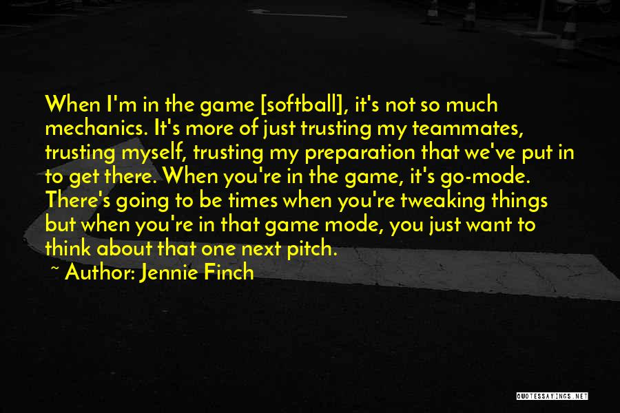Top 20 Quotes Sayings About Softball By Jennie Finch