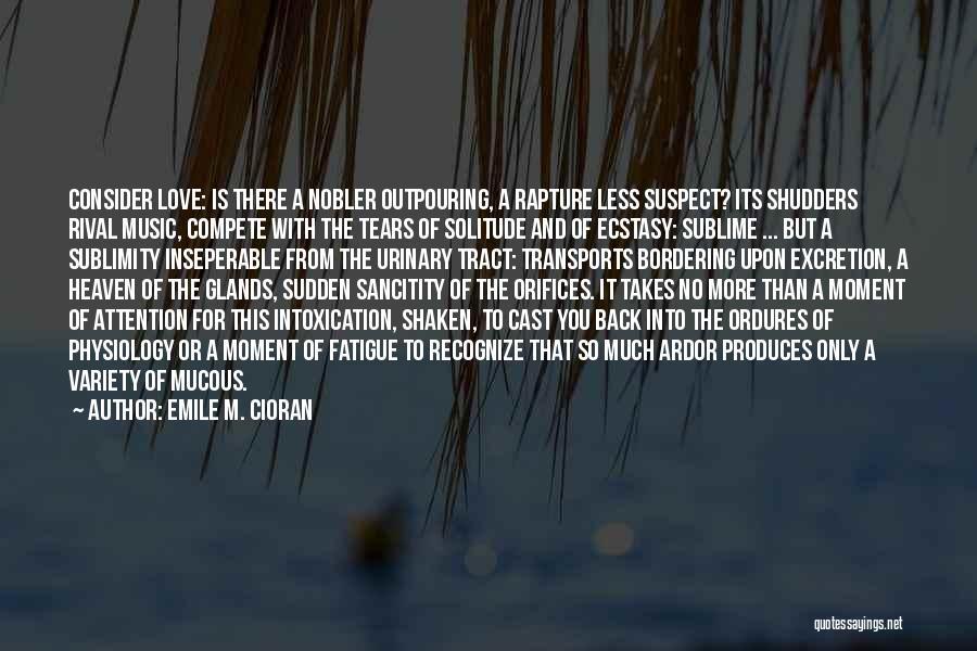 Solitude And Music Quotes By Emile M. Cioran