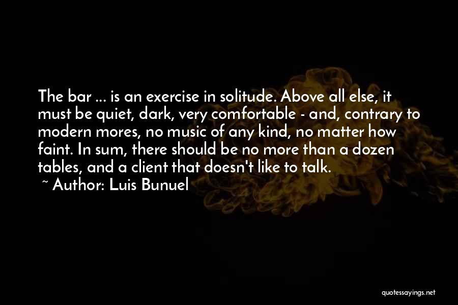 Solitude And Music Quotes By Luis Bunuel