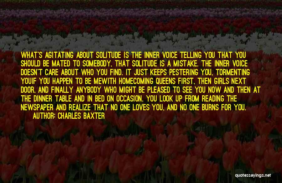 Solitude And Quotes By Charles Baxter