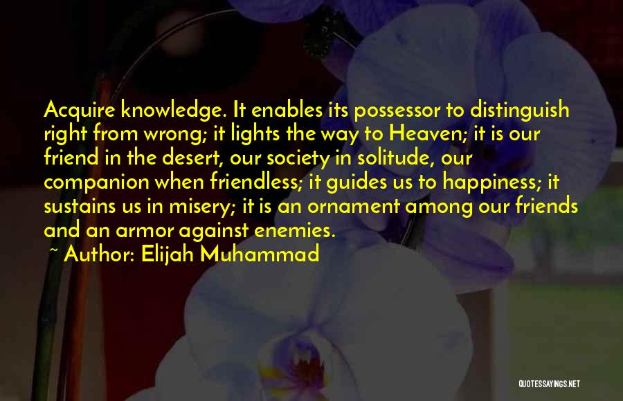 Solitude And Quotes By Elijah Muhammad