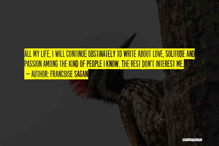 Solitude And Quotes By Francoise Sagan