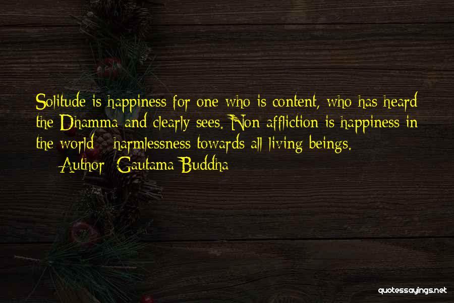 Solitude And Quotes By Gautama Buddha