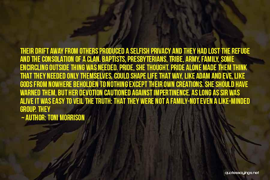 Solitude And Quotes By Toni Morrison