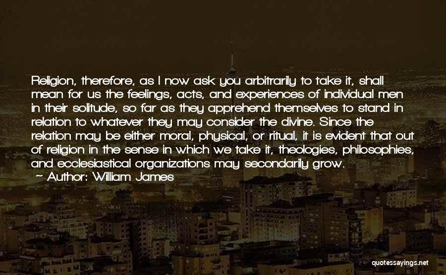 Solitude And Quotes By William James