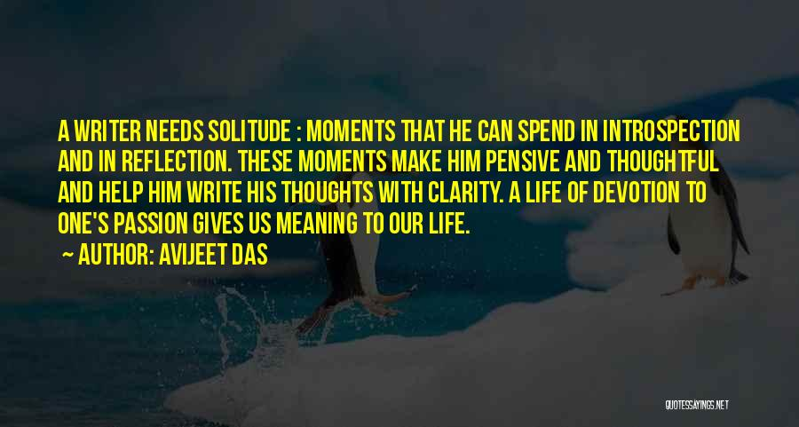 Solitude And Reflection Quotes By Avijeet Das