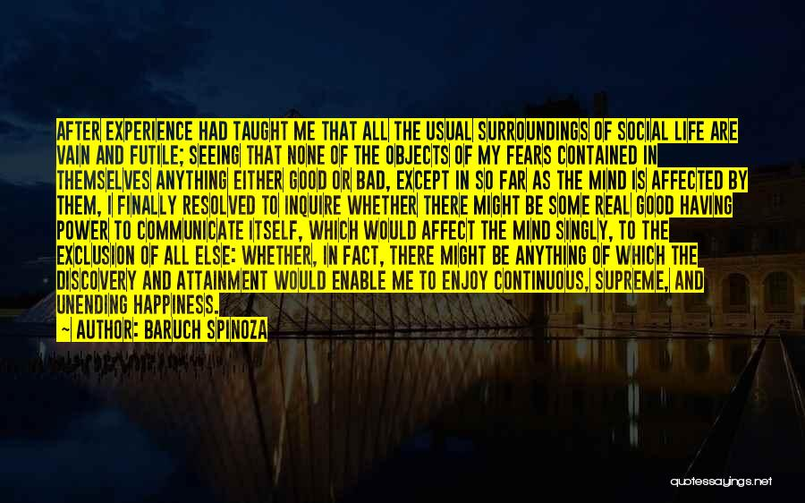 Some Bad Quotes By Baruch Spinoza