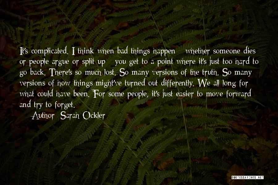 Some Bad Quotes By Sarah Ockler