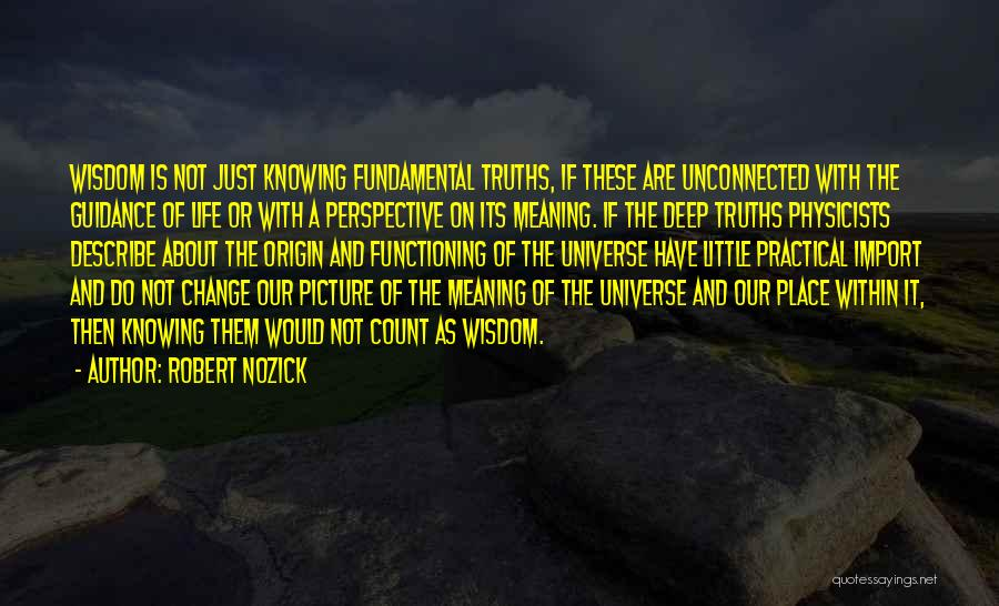 Some Deep Meaning Quotes By Robert Nozick