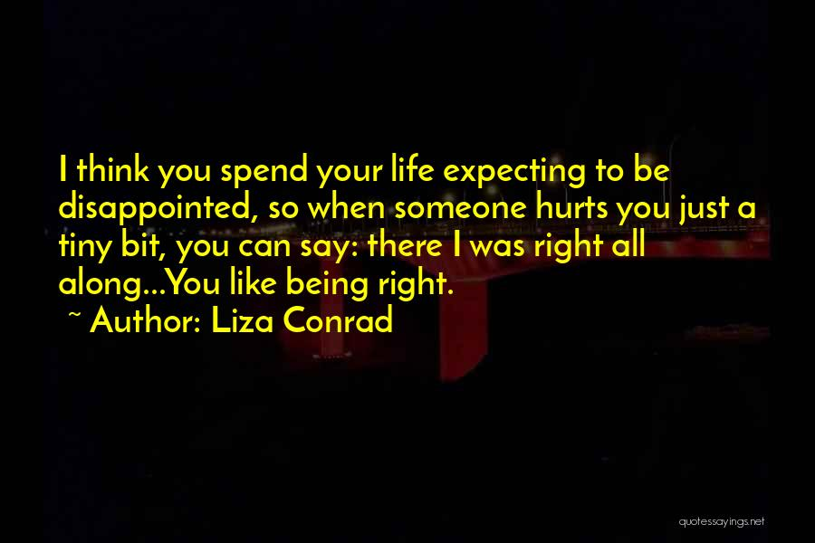 Someone Being There All Along Quotes By Liza Conrad