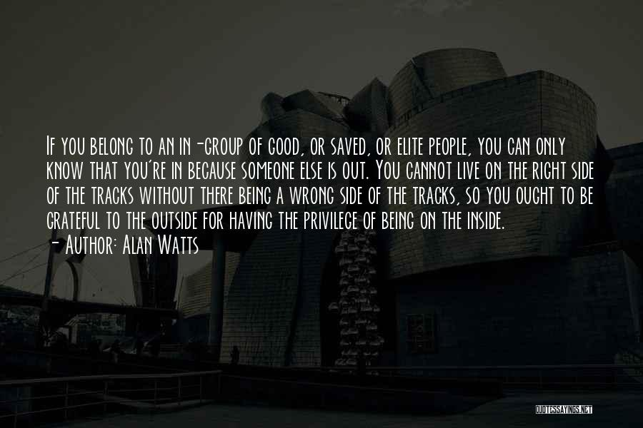 Someone Being There For You Quotes By Alan Watts