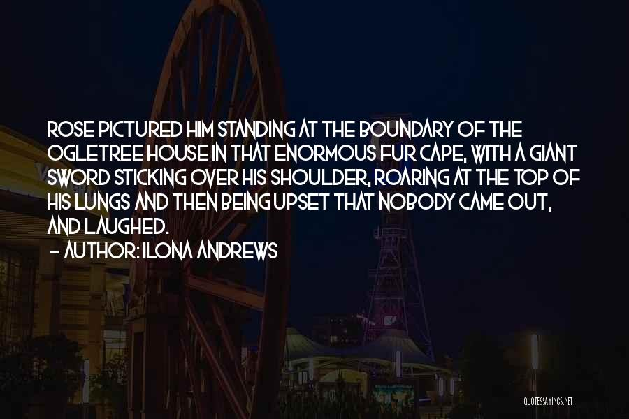 Someone Being Upset With You Quotes By Ilona Andrews