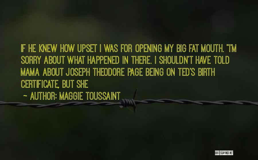 Someone Being Upset With You Quotes By Maggie Toussaint