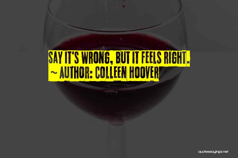 Someone Doing Something Wrong Quotes By Colleen Hoover