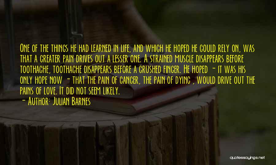 Someone Dying From Cancer Quotes By Julian Barnes