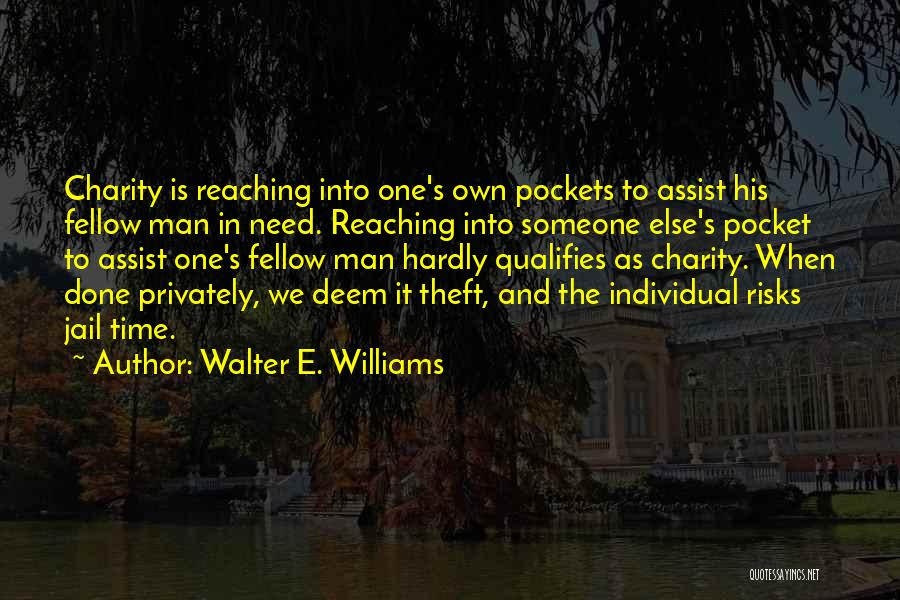 Someone Else's Man Quotes By Walter E. Williams