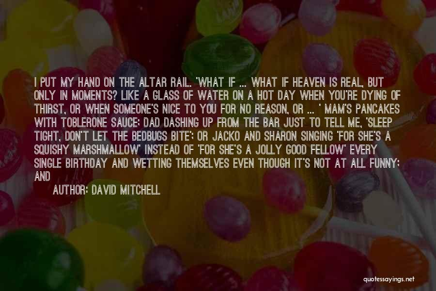 Someone In Heaven On Their Birthday Quotes By David Mitchell