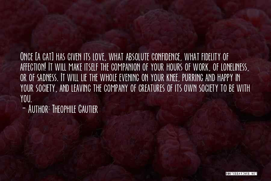 Someone Leaving The Company Quotes By Theophile Gautier