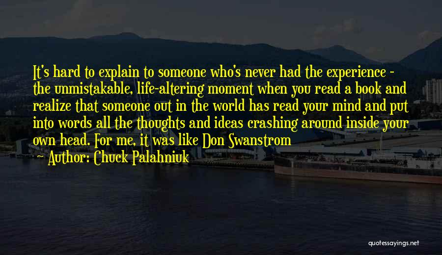 Someone Like You Book Quotes By Chuck Palahniuk