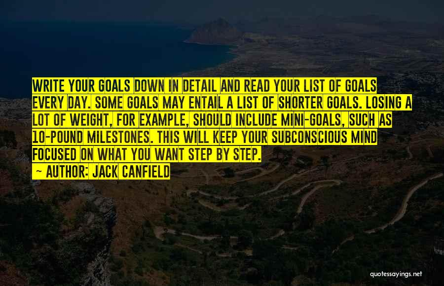 Someone Losing Weight Quotes By Jack Canfield