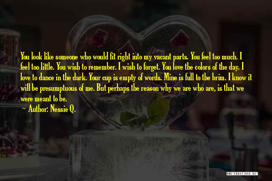 Someone That I Love Quotes By Nessie Q.