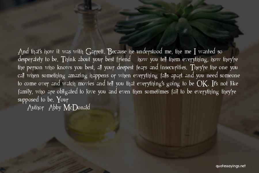 Someone To Comfort Quotes By Abby McDonald