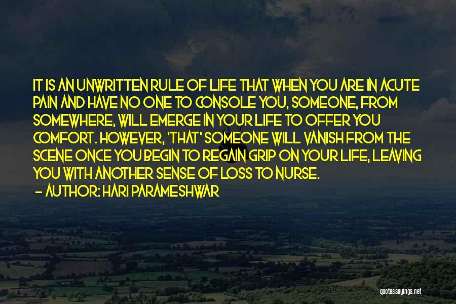 Someone To Comfort Quotes By Hari Parameshwar