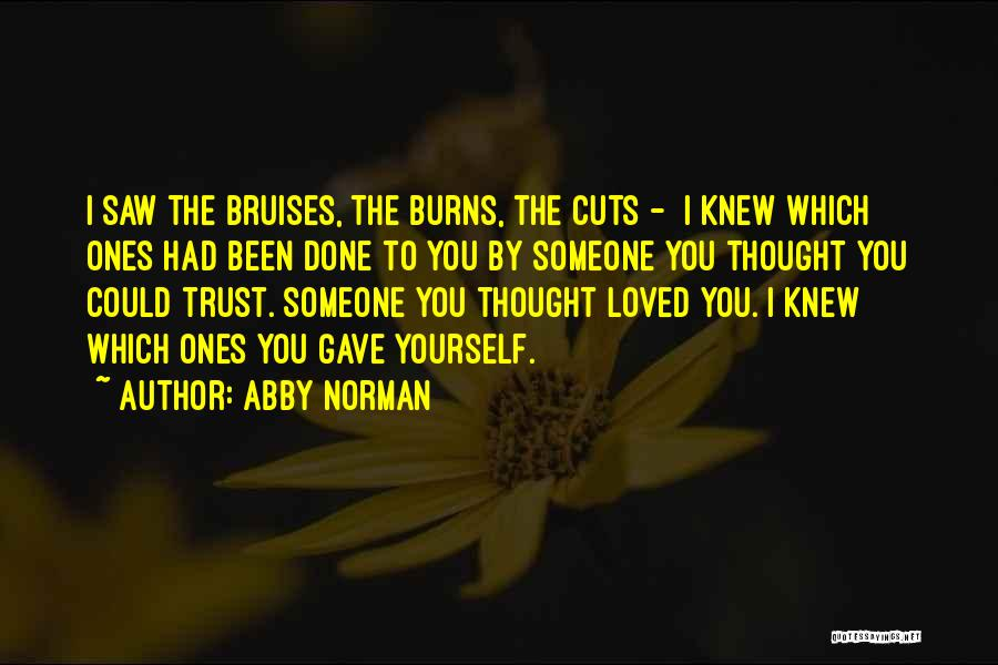Someone To Help Quotes By Abby Norman