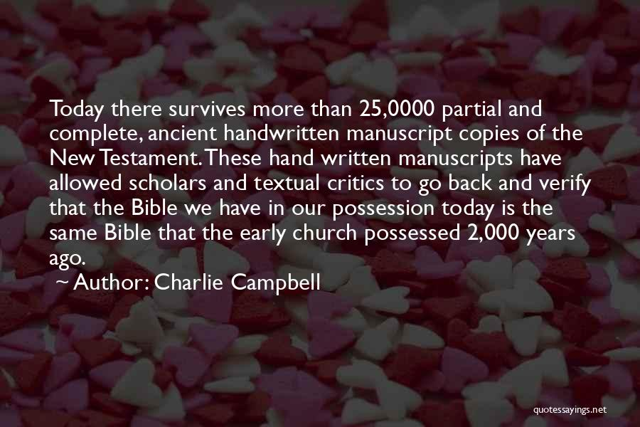 Someone Who Copies You Quotes By Charlie Campbell