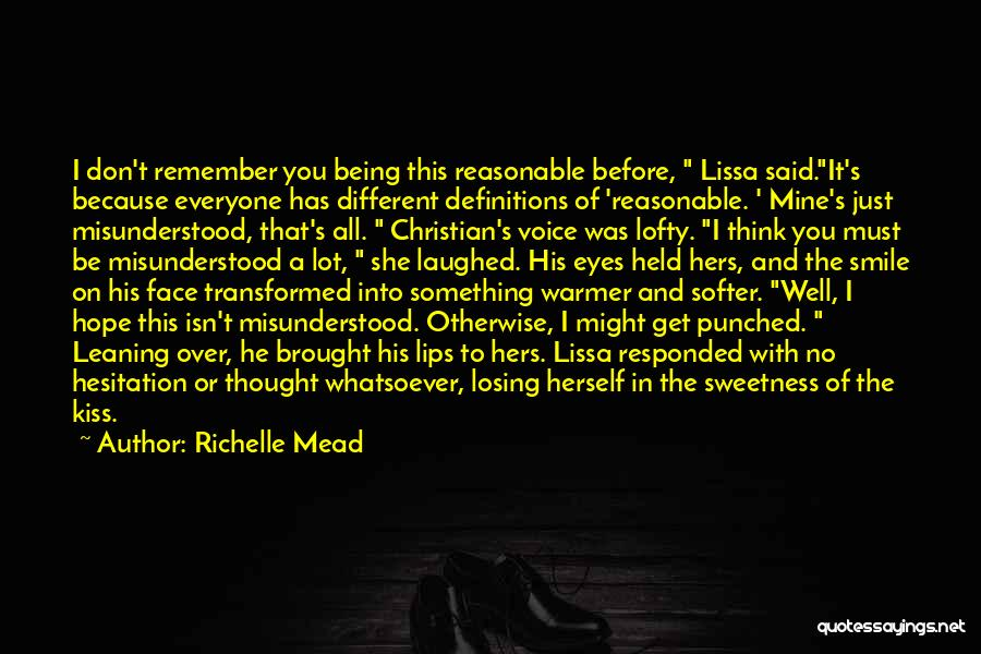 Something Being Over Quotes By Richelle Mead