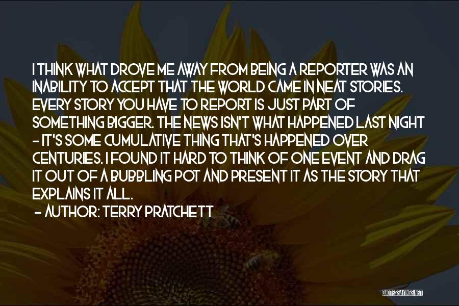 Something Being Over Quotes By Terry Pratchett