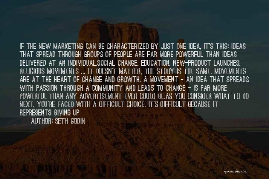 Something You Can't Change Quotes By Seth Godin